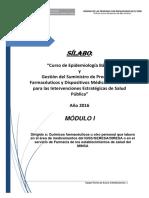 EPIDEMIOLOGÍA & GESTIÓN DEL SUMINISTRO- Sílabo Módulo I.pdf
