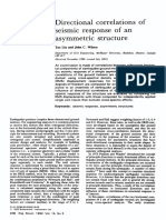 Directional Correlations of Seismic Response of an Asymmetric Structure 1992