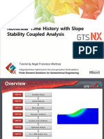 2D Tutorial Coupled Analysis Non Linear Time History With Slope Stability Analysis