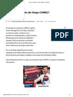 ¿Qué Es El Análisis de Riesgo CAMEL_ • GestioPolis