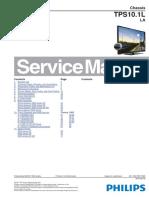 LED Philips 32PFL3008D 39PFL3008D 42PFL3008D 46PFL3008D Chassis TPS10.1L-LA Televisor LCD Manual de Servicio Editado Con Notas Ojo Leer