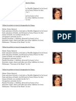 Biography of Princess Diana