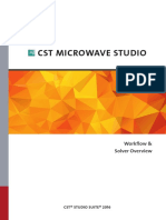 CST MICROWAVE STUDIO - Workflow and Solver Overview