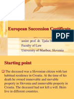 European Succession Certificate