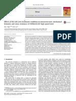 efecto del tratamiento zubcero  en acero rapido W9Mo3Cr4V