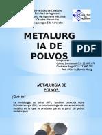 Metalurgia de Polvos Presentacion