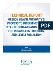 Oha 8964 Technical Report Marijuana Contaminant Testing