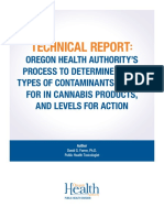 Oha 8964 Technical Report Marijuana Contaminant Testing