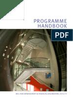 MSc RMFE Programme Handbook 2012-13