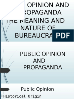 Public Opinion and Propaganda