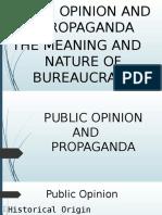Public Opinion and Propaganda