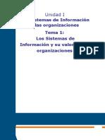 Unidad I Tema 1 Los S.I. y Las Organizaciones - Los SI en Las Organizaciones
