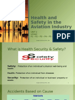 UNIT 2 Heatlh and Safety in the Aviation Industry Lesson 1
