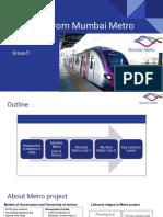 [IDF-Group5] Lessons From Mumbai Metro