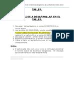 Taller 03 Evidencias Obligaorias de Un SGA ISO 14001.2015