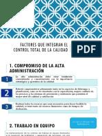 Clase 4. Factores Que Integran El Control Total de La Calidad
