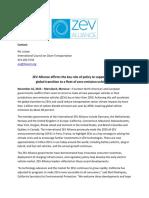 ZEV Alliance COP22 press release, 16 November 2016