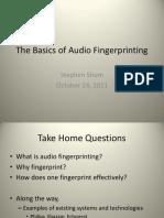 Audio Fingerprinting Sls 24Oct2011