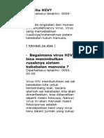 Apa itu HIV