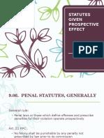 Statutes Given Prospective Effect