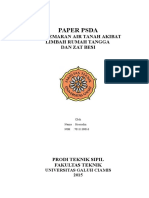 Paper Pencemaran Air Tanah