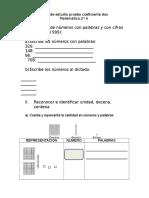 Guía de Estudio Prueba Coeficiente Dos Matematica