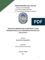 ESTILO DE LIDERAZGO DE LOS DECANOS Y CLIMA ORGANIZACIONAL EN LA UNIVERSIDAD NACIONAL DEL CALLA.pdf