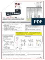 INTELLIswitch993 Instruction Sheet