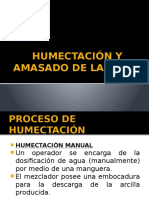 3. AMASADO - HUMECTACIÓN