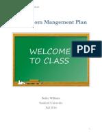 classroom mangement plan
