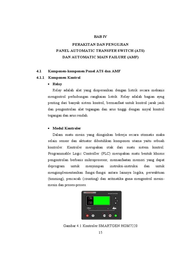 Perakitan Dan Pengujian Panel Ats Amf Wiring