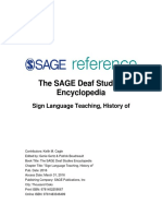 3  sign language teaching history of - deaf studies encyclopedia - 2016