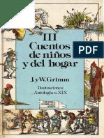 Hermanos Grimm Cuentos de Ninos y Del Hogar Tomo III PDF