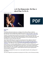 Clarence Thomas Say America is Too Democratic