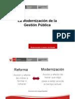 La Modenizacion de La Gestion Publica