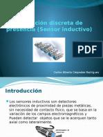 Detección discreta de presencia (Sensor inductivo)