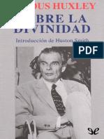 Sobre La Divinidad - Aldous Huxley