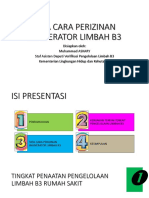 Tata Cara Perizinan Insinerator Limbah b3