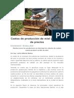 Costos de Producción de Miel y Análisis de Precios