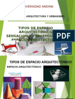 Tipos de Espacio Arquitectonico - Sensacion y Percepcion Del Espacio