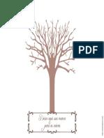 Árvore Fundo Branco A3