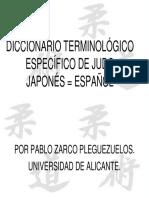 Diccionario Terminológico Específico de Judo Japonés-español