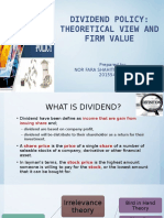 Does Dividend Policy Affect Firm Share Price