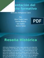 Presentación Del Proyecto Formativo