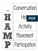 Free Champs for Music Classroom Management