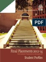 PGP Final Placement Brochure Batch_2012-14