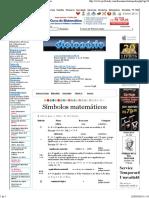 Dicionário de Matemática _simbolos Matematicos