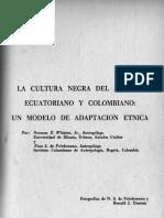 la cultura negra del litoral ecuatoriano y colombiano