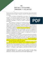 Malatesta Libertad y Fatalismo_Determinismo y Voluntad