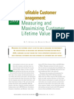 Profitable Customer Management-measuring and Maximizing Customer Lifetime Value